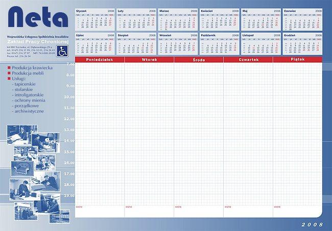 7994916f17dc Biuwar 2019 (podkład na biurko z kalendarzem)